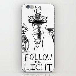 Follow the Light iPhone Skin