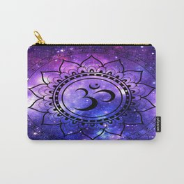 Om Mandala: Purple Blue Galaxy Carry-All Pouch