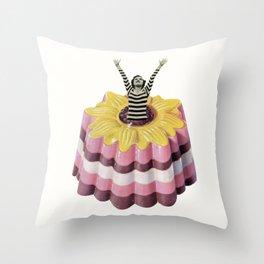 Blancmange Surprise Throw Pillow