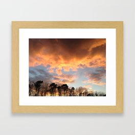 """sunet in a dark place"" Framed Art Print"