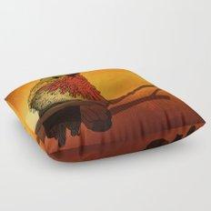 The Sunset Bird Floor Pillow