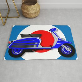 60s Scooter and UK Symbol Rug