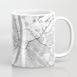 St Louis Map Line Coffee Mug