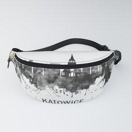 Katowice Poland Skyline BW Fanny Pack