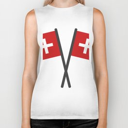 Swiss flag Biker Tank