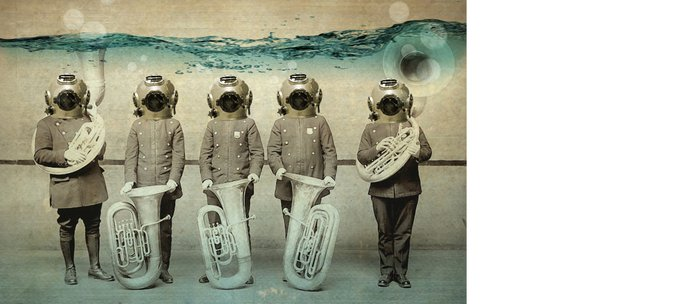 the diving bell Tuba quintet Coffee Mug