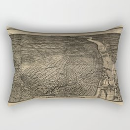 Bird's Eye View of St. Louis, Missouri (1876) Rectangular Pillow