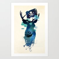 captain hook Art Prints featuring Captain Hook by Robert Farkas