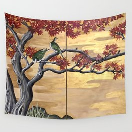 Japanese Fall Leaves Wall Tapestry