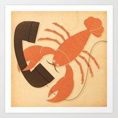 Lobster Salvador Art Print