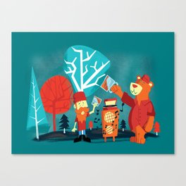 Drinking Buddies Canvas Print