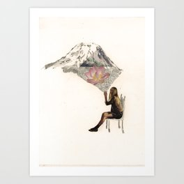 Imagination is more important than knowledge. Knowledge is limited. Art Print