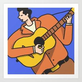 Mr. Tambourine Man Art Print