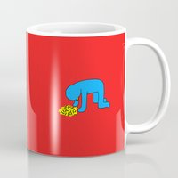 keith haring Mugs featuring Keith Haring style - Too much alcohol - Funny Illustration Pop Art by Estef Azevedo