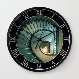 Wooden spiral staircase Wall Clock