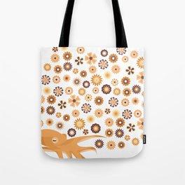 Retro Octopus Tote Bag