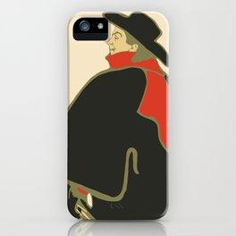 Bruant in his cabaret retro vintage iPhone Case