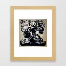 Telephone Tote Framed Art Print