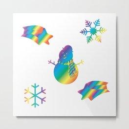 Rainbow Winter Metal Print