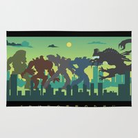 pacific rim Area & Throw Rugs featuring Pacific Rim: For My Family by MNM Studios