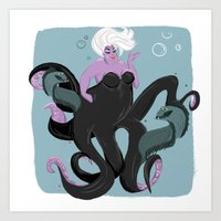 ursula Art Prints featuring Ursula by gabby ramirez