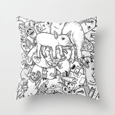 counting pigs Throw Pillow