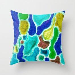 Liquid Gems Throw Pillow