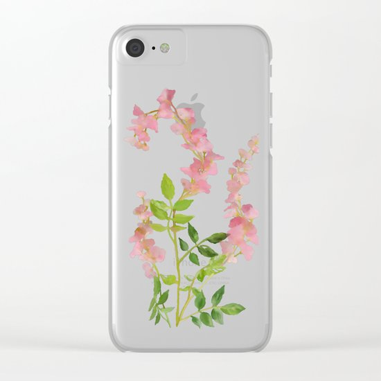 Pink Tiny Flowers Clear iPhone Case