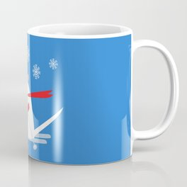 Christmas Mouse on Skis Coffee Mug