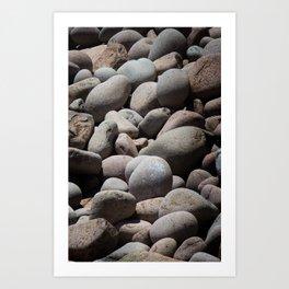 Textura: Boulders Art Print