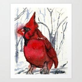Red Cardinal Spirit Singer II Art Print