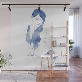 Leto Blue Wall Mural