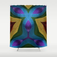 totem Shower Curtains featuring Totem by RingWaveArt