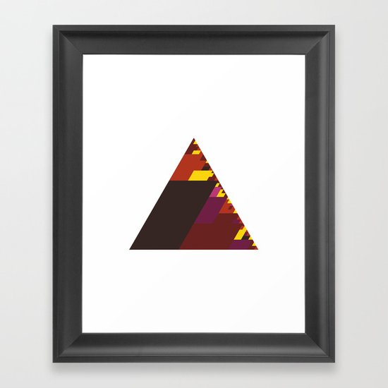 #407 The burning triangle – Geometry Daily Framed Art Print