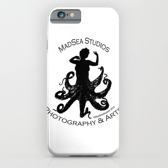 MadSea Nymph, black on white iPhone & iPod Case