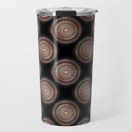 Rose Gold Black Mandala Travel Mug