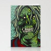 kurt rahn Stationery Cards featuring Zombie Kurt by Zherj
