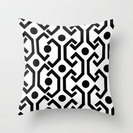 Ethnic Pattern (White) Throw Pillow