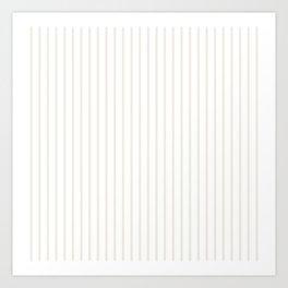 Classic Cream Pin Stripes on White Art Print