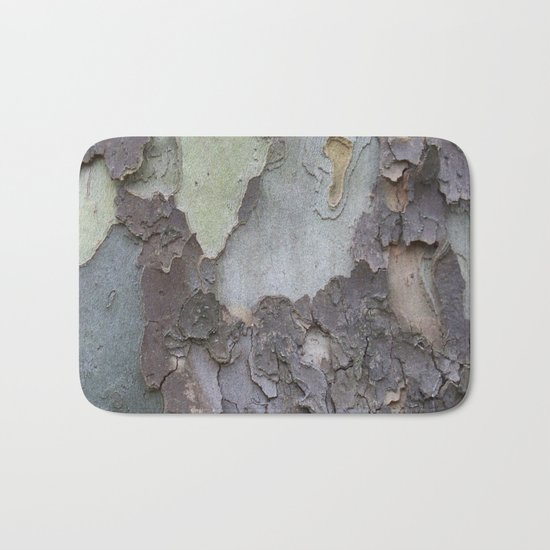sycamore bark with a green tinge Bath Mat