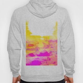 summer sunset at the beach with summer bokeh light abstract Hoody