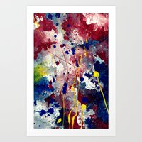 fireworks Art Prints featuring Fireworks by Tia Hank