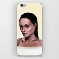 angelina jolie iPhone & iPod Skins featuring Angelina Jolie by Z ∙▲RT