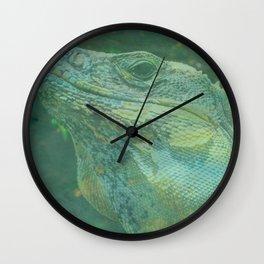 Wild Iguana Wall Clock