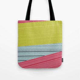 Bubblegum Pop Weave Tote Bag