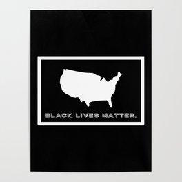 Black Lives Matter America Poster