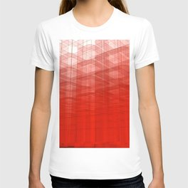 Abstract Red Structure T-shirt