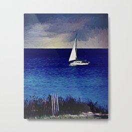 Huron Sails Metal Print