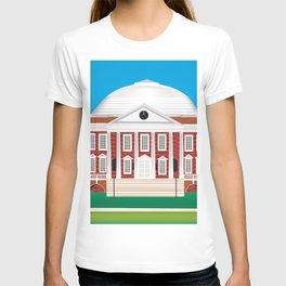 Charlottesville, Virginia - Skyline Illustration by Loose Petals T-shirt