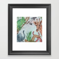 Animals of the World Framed Art Print